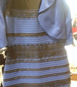 That freaky dress. And our amazing brains.